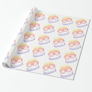 Birthday Cake Graphic Wrapping Paper