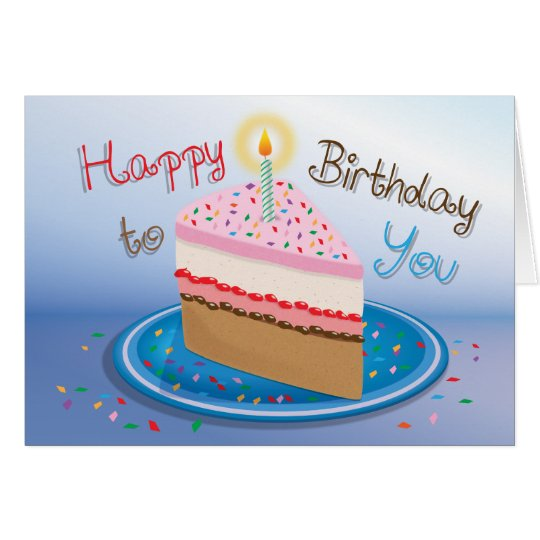 Birthday Cake - Greeting Card