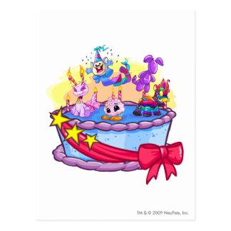 Birthday Cake Group Shot Postcard