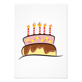 Birthday Cake Personalized Invites