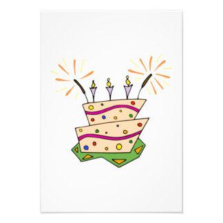 Birthday Cake Personalized Invitation