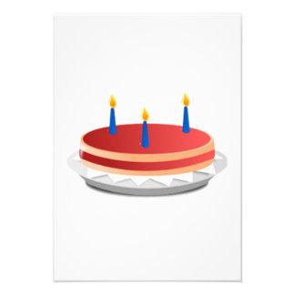 Birthday Cake Personalized Invitations