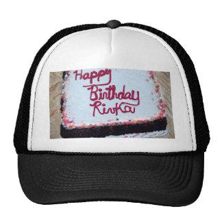 birthday cake original art painting ice cream cap