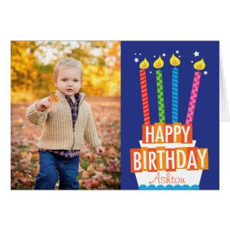 Birthday Cake Photo Greeting Card