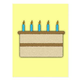 Birthday Cake Postcard