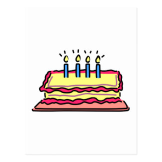 Birthday Cake Post Cards