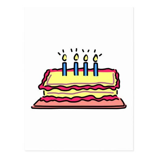 Birthday Cake Post Cards