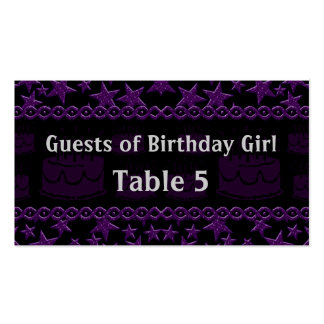 Birthday Cake Rock Star In Purple Table Pack Of Standard Business Cards