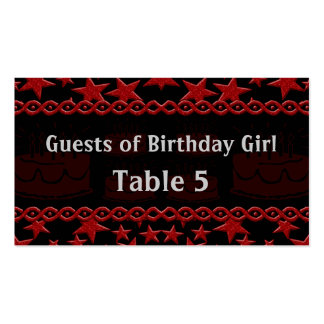 Birthday Cake Rock Star In Red Table Pack Of Standard Business Cards