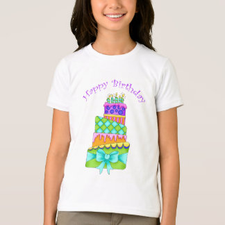 Birthday Cake T-Shirt -- (Kids with Happy Birthday