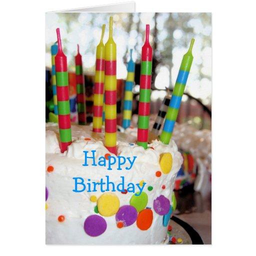 Birthday Cake with Candles Birthday Greeting Card Zazzle