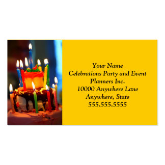 Birthday Cake with Candles Pack Of Standard Business Cards
