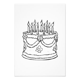 Birthday Cake with Candles Announcement