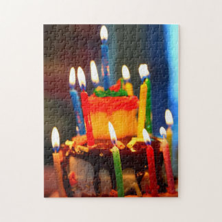 Birthday Cake with Candles Jigsaw Puzzle