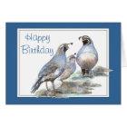 Birthday, California Quail, Bird, Nature, Gardens Card