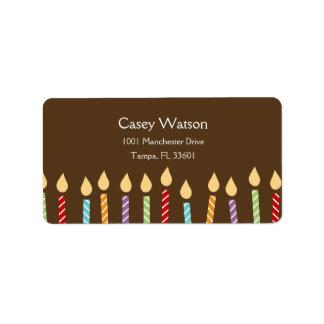 Birthday Candles Address Label
