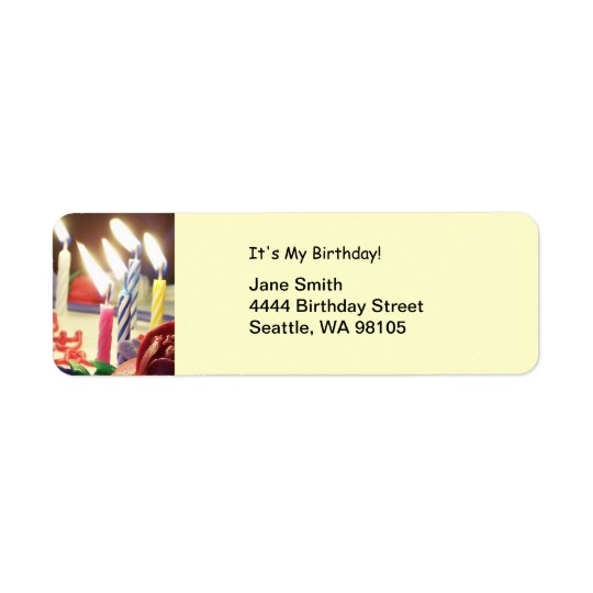 Birthday Candles Address Label