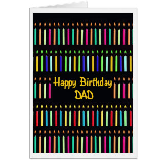 Birthday Candles Dad Funny Greeting Card