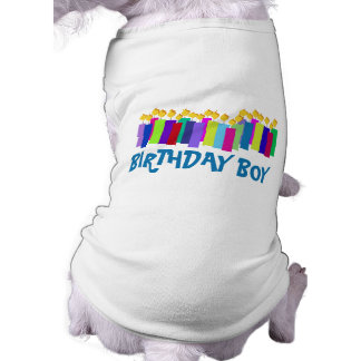 Birthday Candles Sleeveless Dog Shirt
