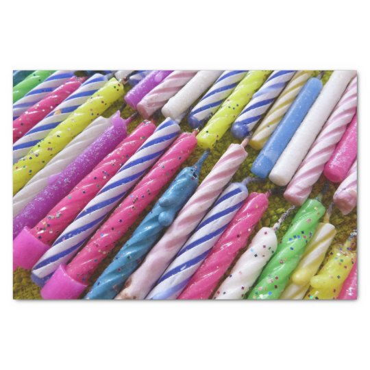 Birthday Candles Tissue Paper