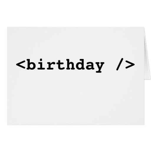 <birthday /> greeting card