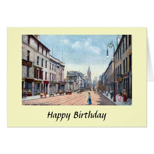 Birthday Card - Aberdeen, Scotland