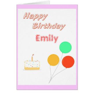 Birthday Card Add name (and age for child)