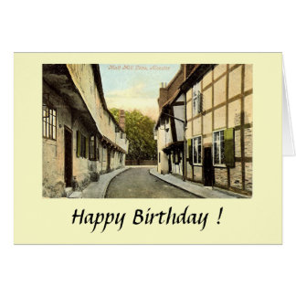 Birthday Card - Alcester, Warwickshire, in 1908