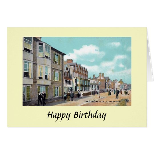 Birthday Card - Aldeburgh, Suffolk