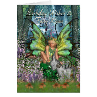 Birthday Card - Angelica Fantasy Woodland Fairy