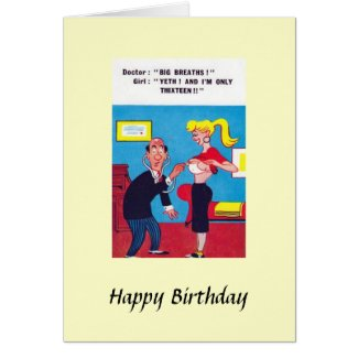 "Birthday Card - ""Big Breaths"", Comic Card"