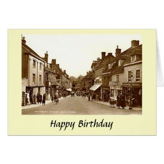 Birthday Card - Blandford Forum, Dorset
