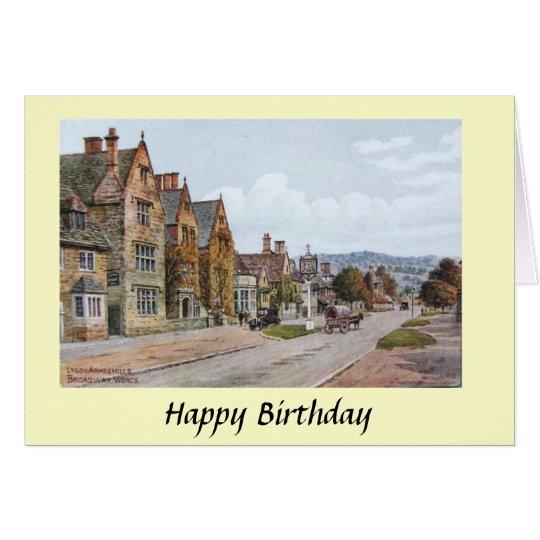 Birthday Card - Broadway, Worcestershire