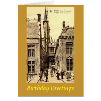 Birthday Card - Bruges, Belgium