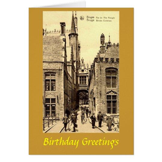 Birthday Card - Bruges, Belgium