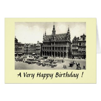 Birthday Card - Brussels, Grand'Place