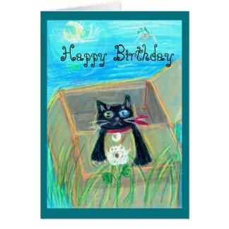 Birthday card! Cat&Ladybug Greeting Card