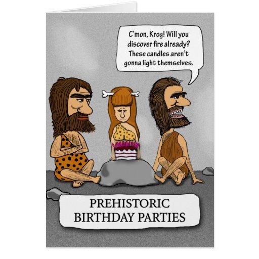 Birthday card -- Cavemen