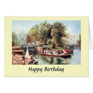 Birthday Card - Caversham Lock, Reading