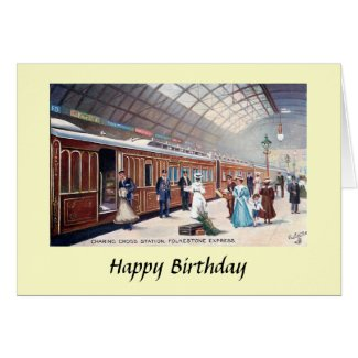 Birthday Card - Charing Cross Station, London