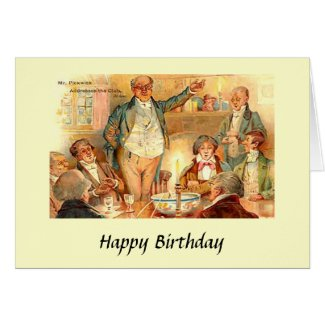 "Birthday Card - Charles Dickens, ""Pickwick Papers"""
