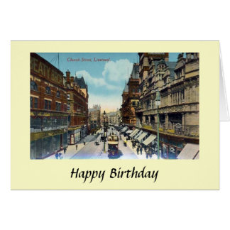 Birthday Card - Church Street, Liverpool