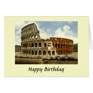Birthday Card - Colosseum, Rome