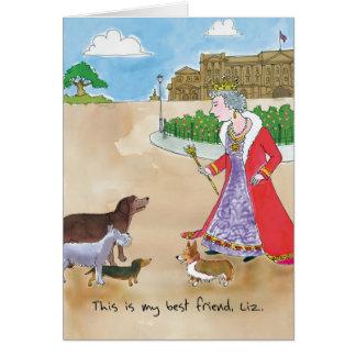 Birthday Card - Corgi Queen