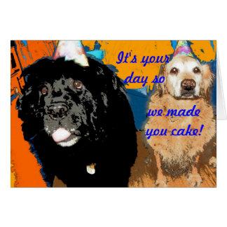 Birthday Card Dog Humor