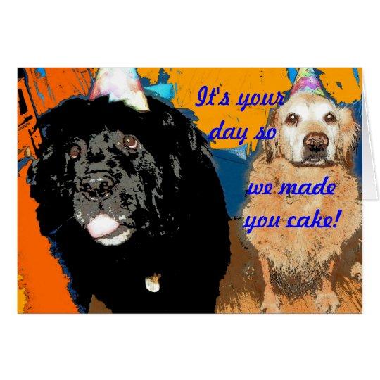 Birthday Card Dog Humour