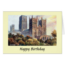 Birthday Card - Durham Cathedral
