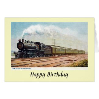 Birthday Card - Empire State Express