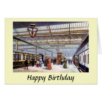 Birthday Card - Euston Station, London