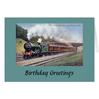 Birthday Card - Flying Scotsman